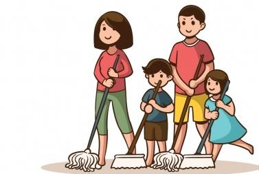 Mengenalkan Pekerjaan Rumah Tangga pada Anak